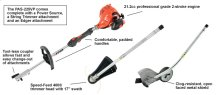 Includes the powerhead, trimmer and edger attachments