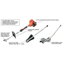 ECHO PAS-225VP Trimmer, Edger and Power Head Combo Kit