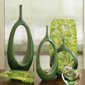 Open Oval Ring Vase-Emerald-Lg