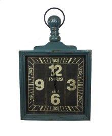 Wooden Wall Clock, Green