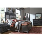 Townsend Upholstered Platform Bed w/Storage Ftbd, Queen 5/0