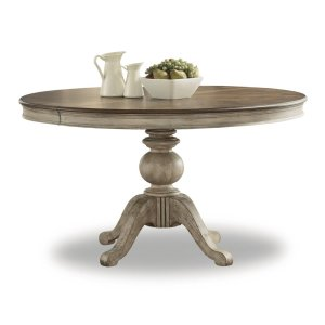 FLEXSTEELPlymouth Round Pedestal Dining Table