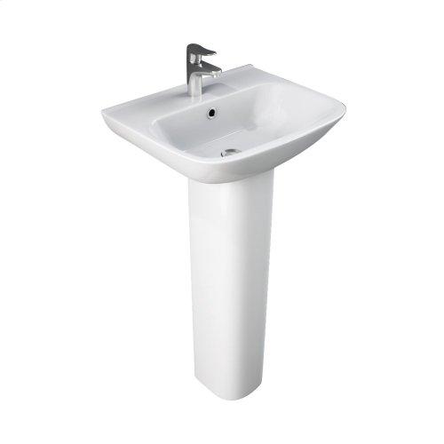 Eden 450 Pedestal Lavatory - White