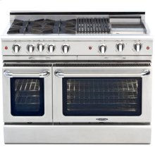 "48"" Gas Self Clean,Rotisserie,4 Open Burners,12"" Griddle & Broil Burner"