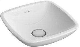 Surface-mounted washbasin (square) Angular - White Alpin