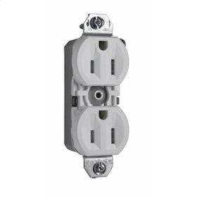 15A/125V TradeMaster® Tamper-Resistant 8-Hole/Push Wire Receptacle, White (Without Ears)