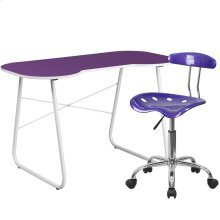 Purple Computer Desk and Tractor Chair