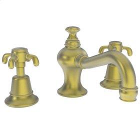 Satin-Brass-PVD Widespread Lavatory Faucet