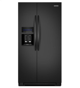 KitchenAid® 26 Cu. Ft. Standard-Depth Side-by-Side Refrigerator, Architect® Series II - Black