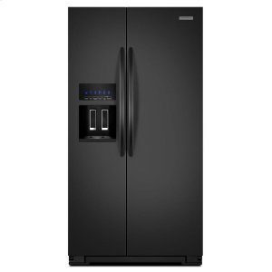 KitchenAid25.6 Cu. Ft. Standard-Depth Side-by-Side Refrigerator, Architect® Series II - Black