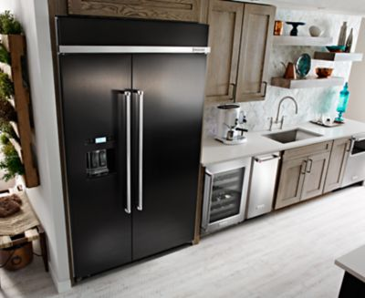 Hidden · Additional 29.5 Cu. Ft 48 Inch Width Built In Side By Side  Refrigerator