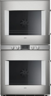 """400 Series Double Oven Stainless Steel-backed Full Glass Door Width 30"""" (76 Cm) Left-hinged Controls Centered"""