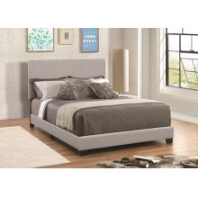 Dorian Grey Faux Leather Upholstered Queen Bed