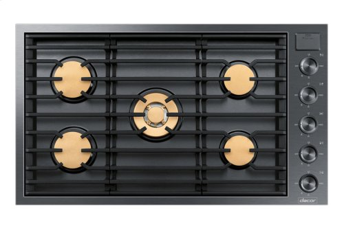 "36"" Drop-In Gas Cooktop, Graphite Stainless Steel, Natural Gas"