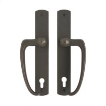 """Curved Entry Sliding Door Set - 1 3/4"""" x 11"""" Silicon Bronze Light"""