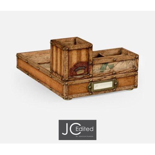 Travel Trunk Style Desk Organiser