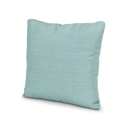 "Dupione Celeste 20"" Outdoor Throw Pillow"