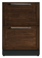 24 3/16 inch Under-counter Double Drawer Refrigerator Custom Panel Ready T24UR800DP Product Image