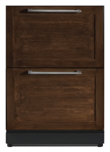 24 3/16 inch Under-counter Double Drawer Refrigerator Custom Panel Ready T24UR800DP