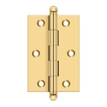 "3""x 2"" Hinge, w/ Ball Tips - PVD Polished Brass"