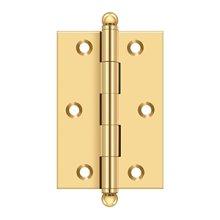 "3""x 2"" Hinge, w/ Ball Tips - PVD Polished Brass"