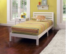 Aiden White Twin Bed