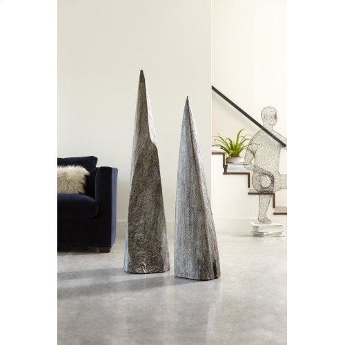 Shark Tooth Sculpture , Grey Stone, LG