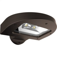 38W LED Arc Wall Pack Fixture w/Photocell - Bronze Finish