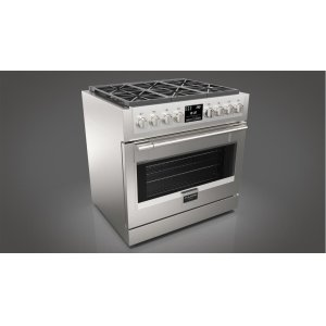 "Fulgor Milano36"" Dual Fuel Pro Range - stainless Steel"