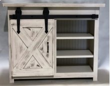 "#617 Small Barn Door Console 44.5""wx19.5""dx36""h"