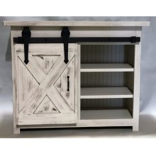 """#617 Small Barn Door Console 44.5""""wx19.5""""dx36""""h"""