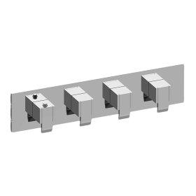 Qubic M-Series Valve Horizontal Trim with Four Handles