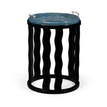 Smoky Black Side Table with Reversible Top