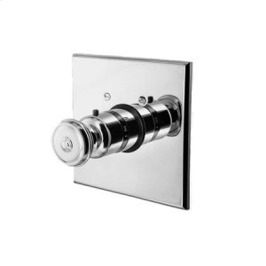 Gun Metal Square Thermostatic Trim Plate with Handle