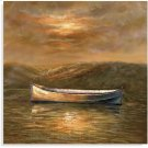 Sunset Canoe- Canvas Product Image