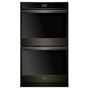 8.6 cu. ft. Smart Double Wall Oven with True Convection Cooking - FINGERPRINT RESISTANT BLACK STAINLESS
