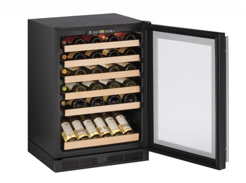"1000 Series 24"" Wine Captain® Model With Black Frame Finish and Field Reversible Door Swing"