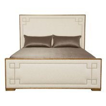 King-Sized Soho Luxe Upholstered Bed in Dark Caramel (368)