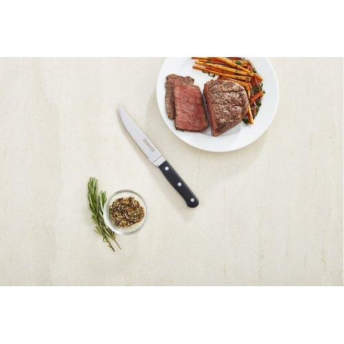 Classic Forged 4-Piece 4.5-Inch Triple Rivet Steak Knives - Onyx Black