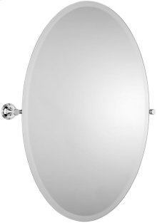 "Brushed Gold Unlacquered Tilting mirror, 30"" H x 21 11/16"" W"