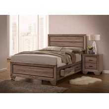 Kauffman Transitional Washed Taupe Queen Five-piece Set