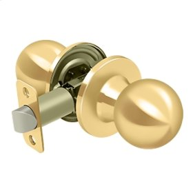 Round Knob Passage - PVD Polished Brass