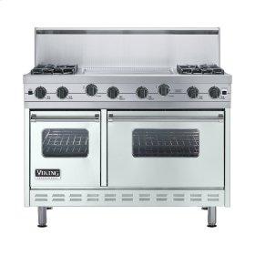 """Sea Glass 48"""" Sealed Burner Range - VGIC (48"""" wide, four burners 24"""" wide griddle/simmer plate)"""