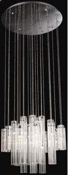 Crystal Ceiling Lamp, Chrome/crystals, Type Jc/g4 20wx24 Product Image