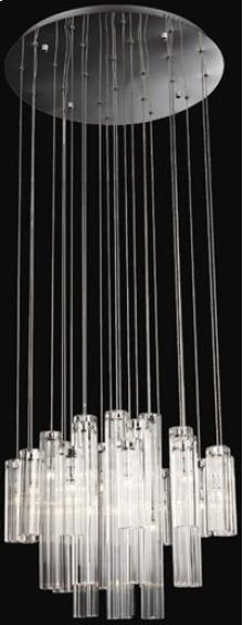 Crystal Ceiling Lamp, Chrome/crystals, Type Jc/g4 20wx24