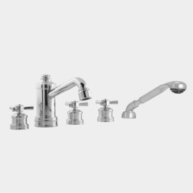 2800 Series Roman Tub Set with Diverter, Handshower and Regent X Handle (available as trim only P/N: 1.285493T)