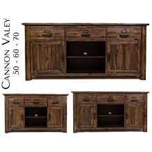 "Cannon Valley 60"" Media Unit"