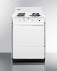 """24"""" Wide Electric Range With Indicator Lights and A Three-prong Line Cord"""