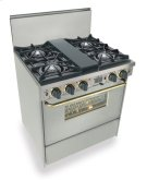 """30"""" Dual Fuel, Convect, Self Clean, Open Burners, Stainless Steel with Bras Product Image"""