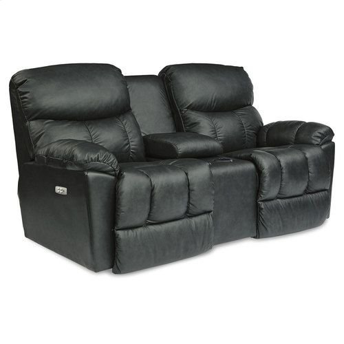 Morrison PowerRecline La-Z-Time® Full Reclining Loveseat w/ Console and Power Headrest